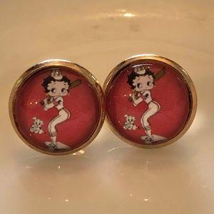 Jewelry - New, Betty Boop uniform series stud earrings